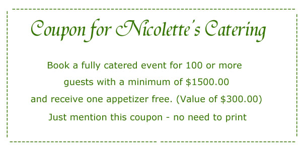 Catering Coupon